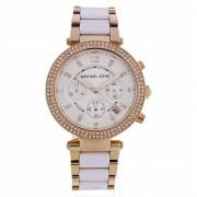 Michael Kors Watches Michael dameshorloge Kors horloges Mk5774 Parker Rose Gold & witte ...