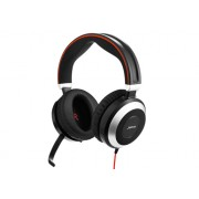 Jabra EVOLVE 80 MS Stereo USB Headband, Active Noise cancelling, USB connector, with mute-button and volume control on the cord, Busylight , Discret boomarm, active Noise Cancellation, Listen-In, Micr