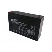MKC Batteria Al Piombo 6v 12 Ah Tampone Accumulatore Ricaricabile Ciclica Faston 4,8 Mm