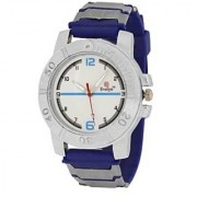 Evelyn Round Dial Blue Pu Strap Quartz Watch For Men