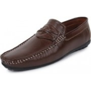 BUWCH Buwch Casual , Partywear ,Mocassin Loafer For Men And Boys Brown Color Loafers For Men(Brown)