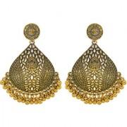 Desire Collection Afghani Oxidised Earring 18k Gold Plated Chandelier German Silver Earrings for Women Girls