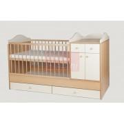 Kinder Möbel Bogi Kombi ágy 60x120cm (4 csomagos) #Bükk/Bézs