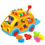 GoAppuGo Amazing Learning Activity Battery Operated Car - Birthday Gift Toys for 1 2 3 Year Old boy Girl Child, Kids Toys for Babies 1 2 3 Year Old Infants