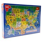 J R Jigsaws USA Map Jigsaw Puzzle by James Hamilton Grovely