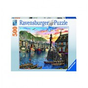 Puzzle Port la rasarit, 500 piese