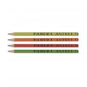 Creion grafit HB fara radiera corp color Faber Castell 112772