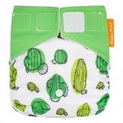 Happy Flute Couche velcro tout-en-un - Cactus