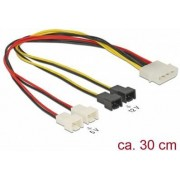 Kabel DELOCK, 4-pin Molex (M) na 4 x 2 pin Fan naponski, interni