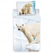 Lenjerie de pat Jerry Fabrics Polar Bear, de copii, din bumbac, 140 x 200 cm, 70 x 90 cm