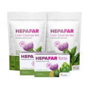 Sensilab Vánoční sada pro očistu jater obsahuje 2x HEPAFAR forte a 2x HEPAFAR čaj – pro zdravý a detoxikaci jater. Program na 40 dní