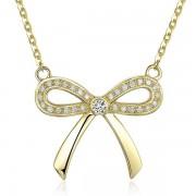 Pandantiv Borealy Aur Galben 14 K 0 17 Ct Natural Diamonds Bow