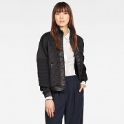 G-star RAW Femmes Veste Beetle Quilted Zip Sweat Noir