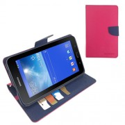 Korean Mercury Case for Samsung Galaxy Tab 3 7.0 Lite - Hot Pink