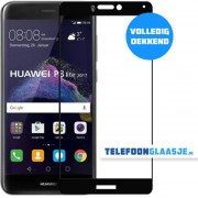 Huawei P8 Lite (2017) Glazen screenprotector (FULL COVER) (ZWART) Tempered glass Gehard glas
