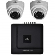 Kit Cctv Video Vigilancia 2 Cámaras Ahd Alta Definición 720p Dvr Seguridad Circuito Cerrado