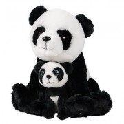 "11"" and 5.5"" Birth of Life Panda Plush Toy By Hands On Learning - Super Soft Stuffed Mom and Cub - Stuffed Animals - Animal Themed Party Accessory - Educational Toy"