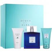 Acqua dell' Elba Blu Men подаръчен комплект IV. парфюмна вода 100 ml + шампоан за цялото тяло 50 ml + крем за лице и тяло 50 ml