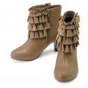 &LOVE ティアードフリルのLovelyショートブーツ【QVC】40代・50代レディースファッション
