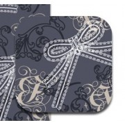 Onderzetters Lacy Bows brown