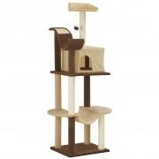 vidaXL bézs/barna macskabútor szizál kaparófákkal 155 cm