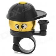 Cute Cap Boy estilo mini campana para la bicicleta - negro + oro