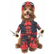 Rubie's Marvel Deadpool Disfraz para Mascotas, tamaño Grande