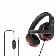 OWV-P4 Gaming Headphone Wired Headset with Mic for PC Cell Phone PS4 Laptop - Red