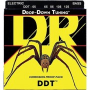 DR Strings DDT-65 Stainless Steel Bass Guitar Strings Extra Heavy