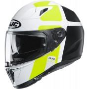 HJC i70 Prika Helmet Black White Yellow M