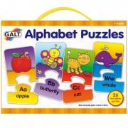 Set 26 de puzzle uri Alphabet 2 piese Galt