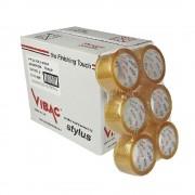 Set 36 Role Banda Adeziva VIBAC Solvent, 48mm x 60m, Benzi Transparente pentru Ambalare