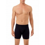 Underworks Shapewear Ultra Light Compression Cotton Spandex Long Boxer Brief Underwear Black 579101