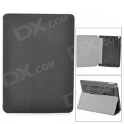 Protectora flip-abierto PU cuero w / stand / Stylus Pen para Ipad AIR - Negro