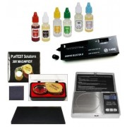 Electronic Jewelry Scale Gram, Carat, Oz- Plus Complete Gold/Silver Purity Test Kit, Diamond Tester and More