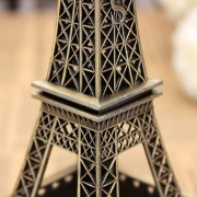 Onloon 3D Metal Torre Eiffel Modelo Decoración Del Hogar (Bronce, 25 Cm)