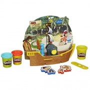 Play Doh Pirate Ship Featuring Disneys Jake And The Never Land Pirates