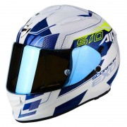 Scorpion Casco Moto Integrale Exo-510 Air Galva Pearl White Blu