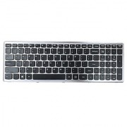 Generic New Black Notebook US Keyboard with -Grey Frame for IBM Lenovo Ideapad Z500 Z500A Z500G P500 Series Replacement Part Number 25206537 V136520ES1-US PK130SY1D00 PZ.N8RSC.301