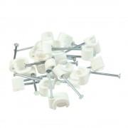 Gelia Ledningshållare 4x6 oval vit 20 st