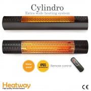 Luxway Terrassvärmare HeatWay Cylindro 2000W Svart