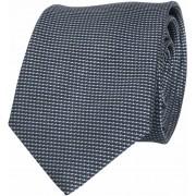 Krawatte Seide Dunkelgrau Motiv - Anthrazit