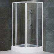 Box doccia semicircolare scorrevole 790 da 90 cm in cristallo 4 mm