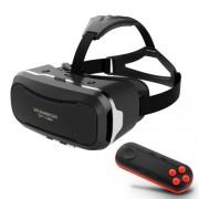SHINECON 2.0 3D очила за виртуална реалност и Bluetooth дистанционно - черни
