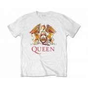 T-Shirt QUEEN Classic Crest branca M