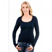 Garage Women Longsleeve T-Shirt Round Neck Navy ( art 0704) - Blauw - Size: Medium