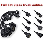 SLB Works 3sets/lot Adapter Truck Cable for Tcs CDP Pro OBD2 OBDII Trucks Connect Cable Full Set 8 Truck Cables VD DS150E cdp Diagnosis