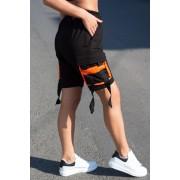 Pantaloni scurti EX Rebel Negru-Orange