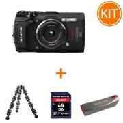 Kit Olympus TG-5 + Card Delkin SDXC 64GB + Minitrepied Flexibil + SanDisk Cruzer Force 32GB