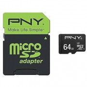 PNY Micro Sd Class 10 64gb + Sd Adapter